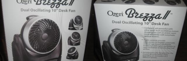"""Ozeri Brezza Oscillating 10"""" High Velocity Desk Fan Review"""