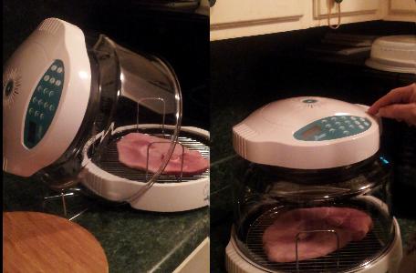 NuWave Oven Ham Steak