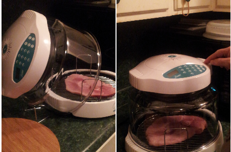 NuWave Oven Ham Steak