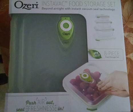 Ozeri INSTAVAC Green Earth BPA-Fee Food Storage Container Set Review @Ozeri, #holidaygiftguide2015