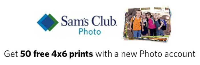 Sam's Club FREE Prints = 50 4×6 Prints!