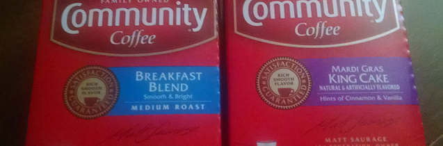 Wake UP with Community Carnival Cake & Breakfast Blend Coffees