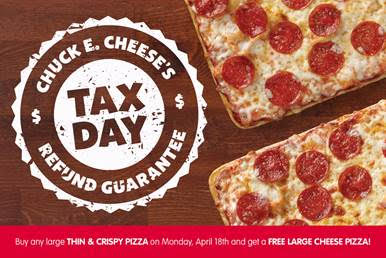 Chuck E. Cheese's BOGO Offer