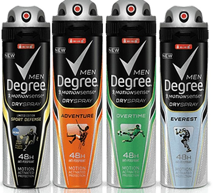 Mens Degree Dry Spray Antiperspirant