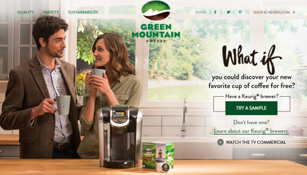 Green Mountain Coffee K-Cup Sample