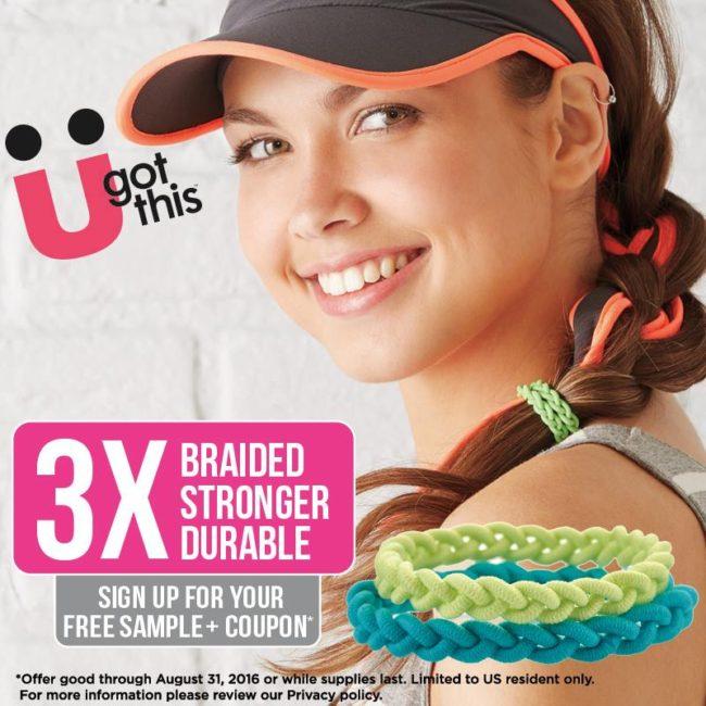 Scünci Braided 3X Stronger Elastic Hair Ties