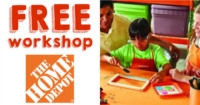 Home Depot FREE Back to School Whiteboard Kids Workshop 9/3