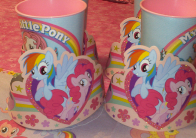 My Little Pony Birthday Hats and Cups