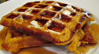 Simple Pumpkin Waffles