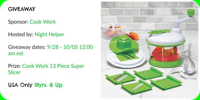 Cook Work 13 Piece Super Slicer