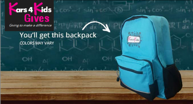 Kars4Kids FREE Backpack