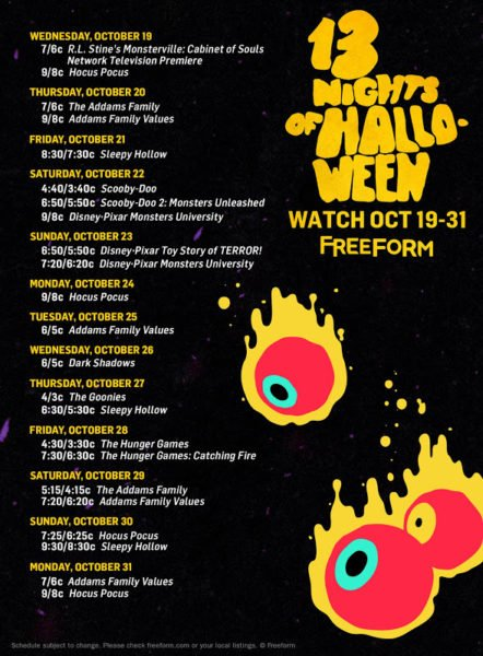 13 Nights of Halloween Schedule