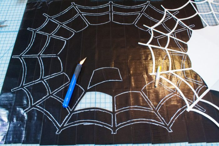 Duct Tape Spider Web