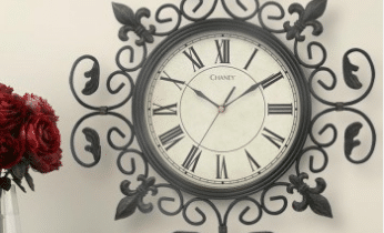 Acurite Metal Fleur de Lis Wall Clock Dresses up your wall!
