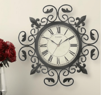 Acurite Metal Fleur De Lis Wall Clock Dresses Up Your Modern Day Gramma