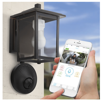 light socked powered wifi security camera