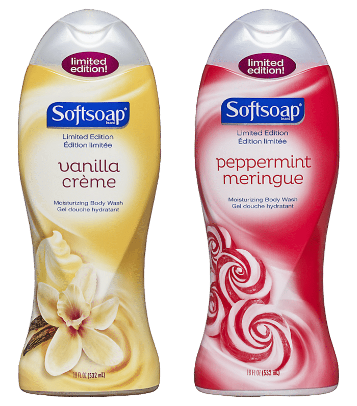 Softsoap holiday body washes