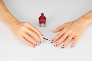 Sally Hansen Candy Cane Nail Design