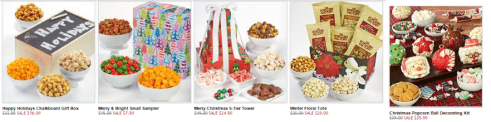 The Popcorn Factory Holiday Popcorn Sale