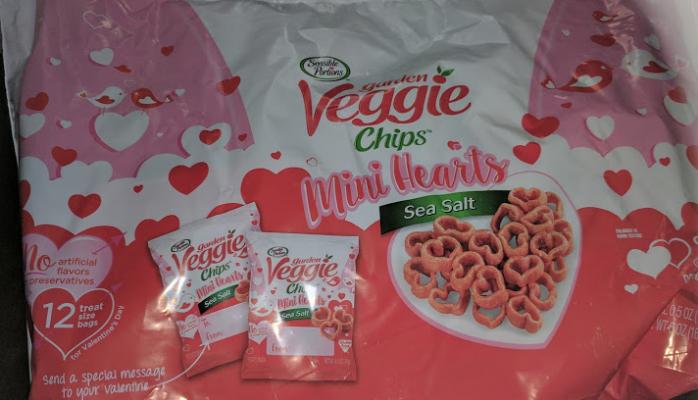 Sensible Portions Mini Heart Garden Veggie Chips for Valentines Day