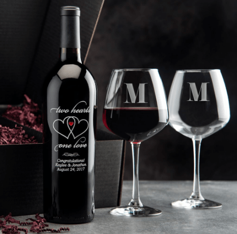 Custom Etched Wine