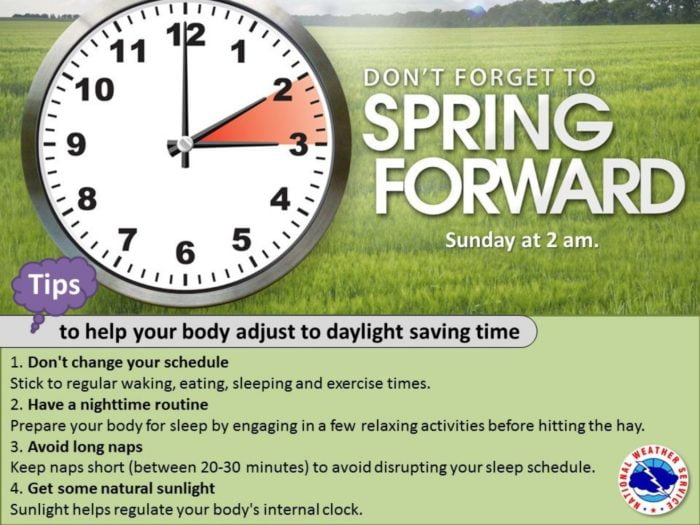 Spring Ahead Time Change