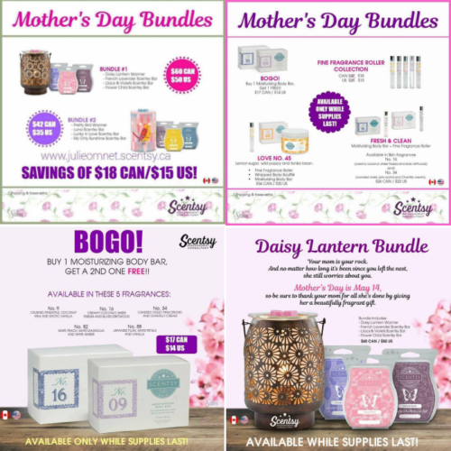 Scentsy Launch Party ends Monday! Mother's Day Specials!