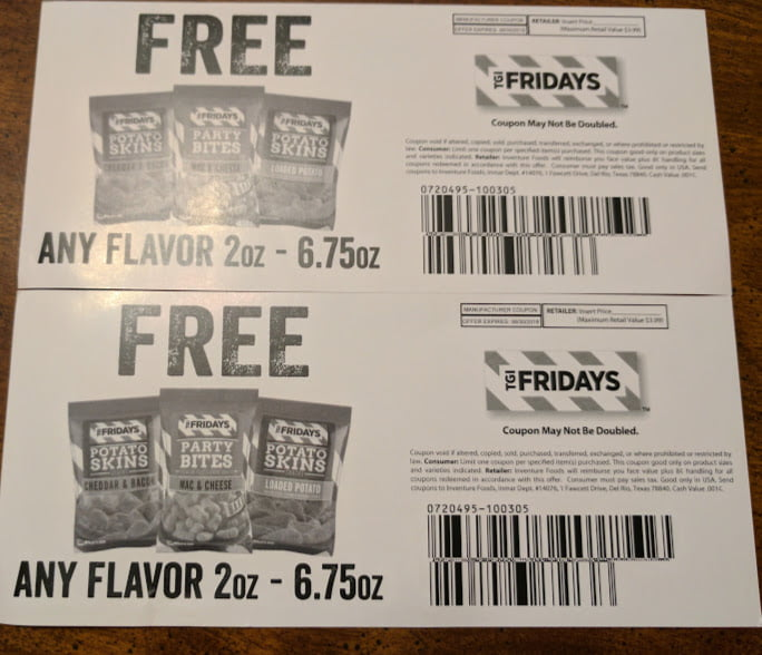 TGI Fridays Snacks Giveaway FREE Product Coupons