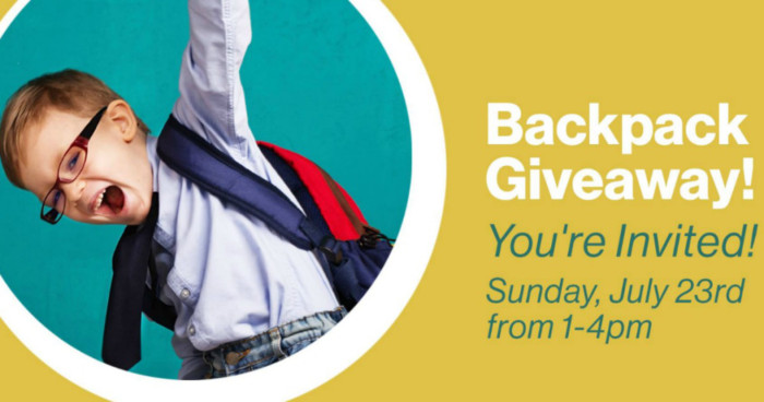 FREE Backpacks with School Supplies