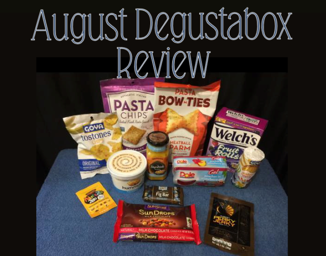 August Degustabox {Food Subscription Box} #AD @DegustaboxUSA #DegustaboxUSA