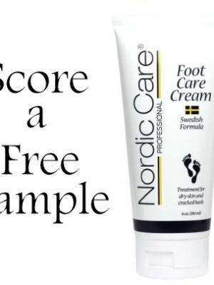 Request a Free Nordic Care Foot Cream Sample