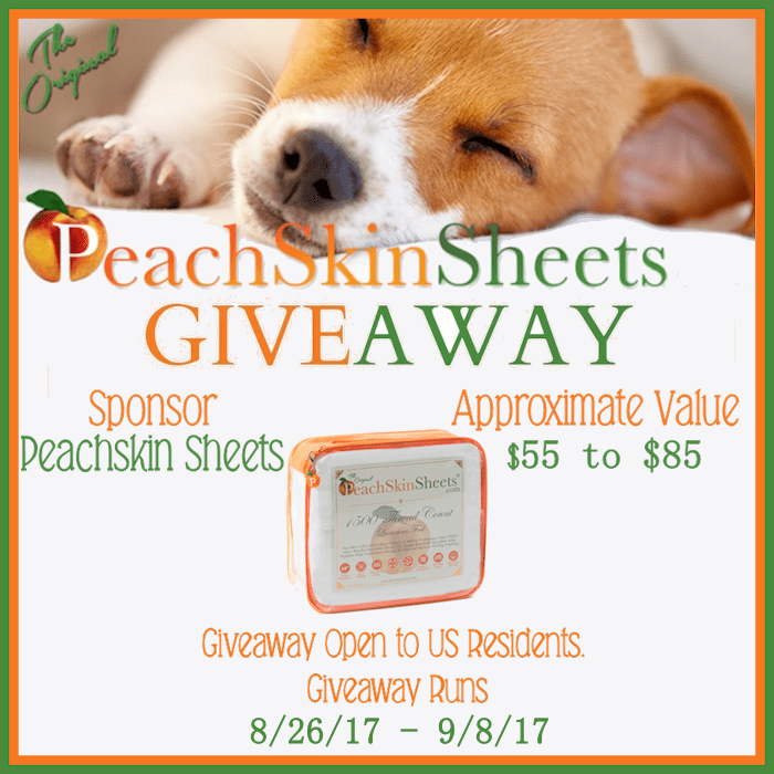 peachskin sheets giveaway