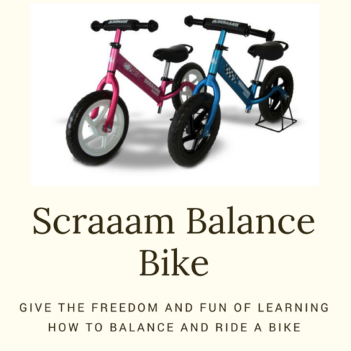 A Scraaam Balance Bike makes Learning how to Ride a Bike Fun!