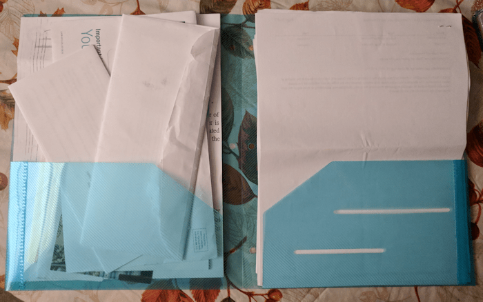 STEMSFX Clear Heavy Duty Plastic Folders