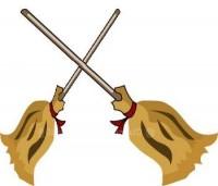 Two brooms Halloween Joke