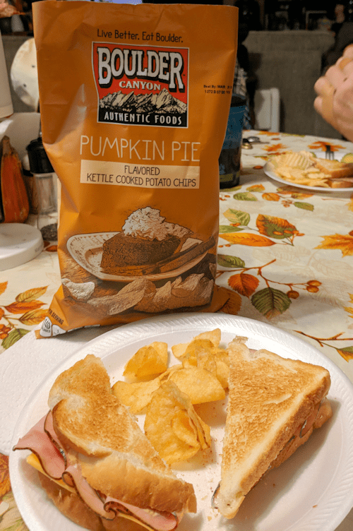 Thanksgiving Flavored Potato Chips