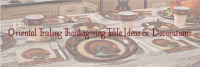 Oriental Trading's Thanksgiving Table Ideas and Decor #AD #Holiday2017