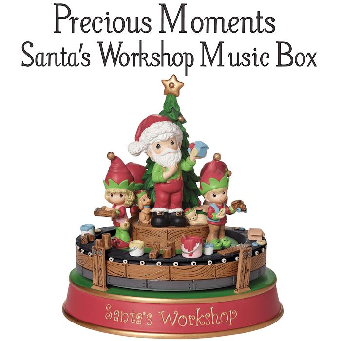 Santa's Workshop Music Box