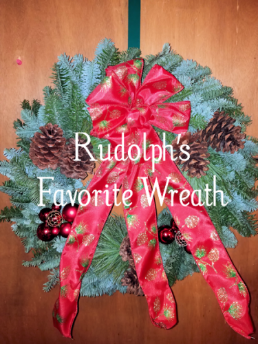 Christmas Forest Whimsical Rudolph's Favorite Wreath @ChristmasForest #Christmas2017 #AD