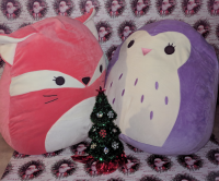Santa Delivers New Squishmallow, a Squishy, Cuddly Toy! #Christmas2017 #AD @Squishmallows