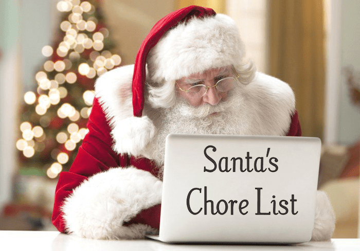 Santa's Chore List – Santa's asking Kids to help out!