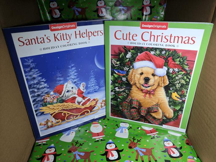 Stocking Stuffers! Cute Christmas & Santa's Helpers Holiday Coloring Books #Christmas2017