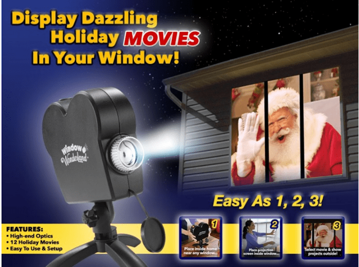 Add Magic to your Christmas Lighting with Star Shower Window Wonderland #Christmas2017