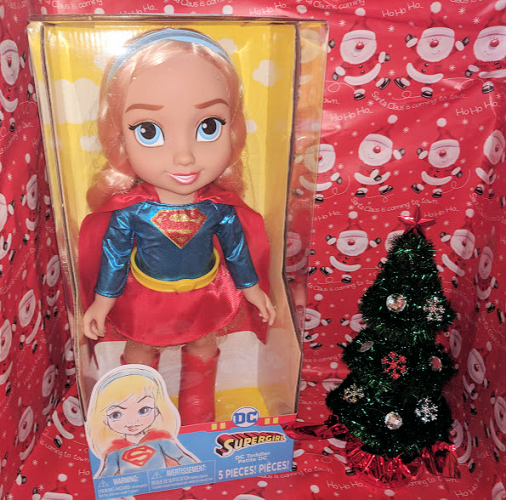 Santa Has DC Toddler Dolls to Deliver to your Supergirl! #AD #Christmas2017