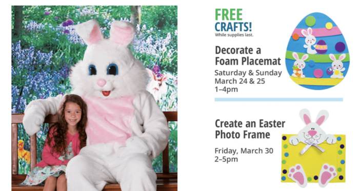 Bass Pro Shop FREE Easter Bunny Picture & Activities Mar 24-April 1