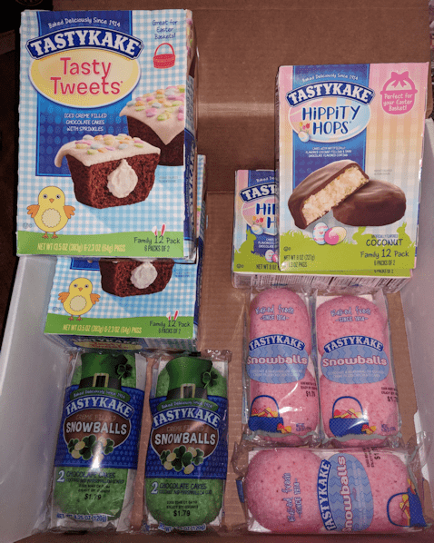 TastyKake Holiday Snack Cakes St Patrick's day & Easter