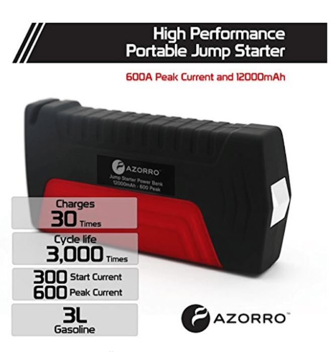 AZORRO Jump Starter Power Pack – Safety for Mom and Dad