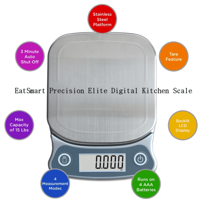 EatSmart Precision Elite Digital Kitchen Scale for Mom
