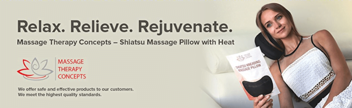 Heated Shiatsu Pillow Massager for Mom and Dad