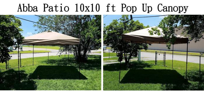 Abba Patio Pop Up Canopy for Outdoor Shade